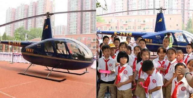 Hebat, Antar-Jemput Anaknya Kesekolah Pakai Helikopter, Pria Ini Malah Dituduh Pamer Kekayaan