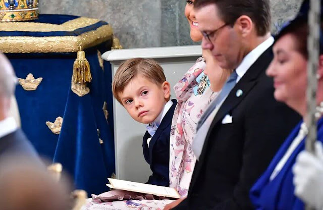 Princess Madeleine wore a cornflower-print dress by Zimmermann.  Princess Sofia, Princess Estelle, Princess Leonore, Princess Adrienne