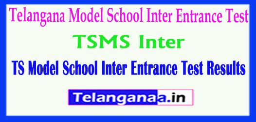 TSMS 2018 Telangana Model School Inter Entrance Test Results 2018 Download