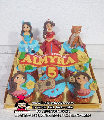 Princess Elena of Avalor Birthday Cupcake