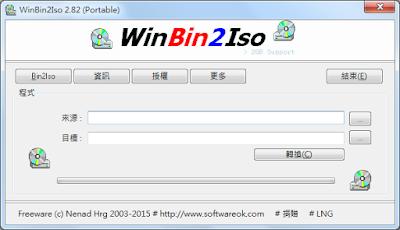 BIN to ISO 映像檔轉檔 WinBin2Iso幫你完成