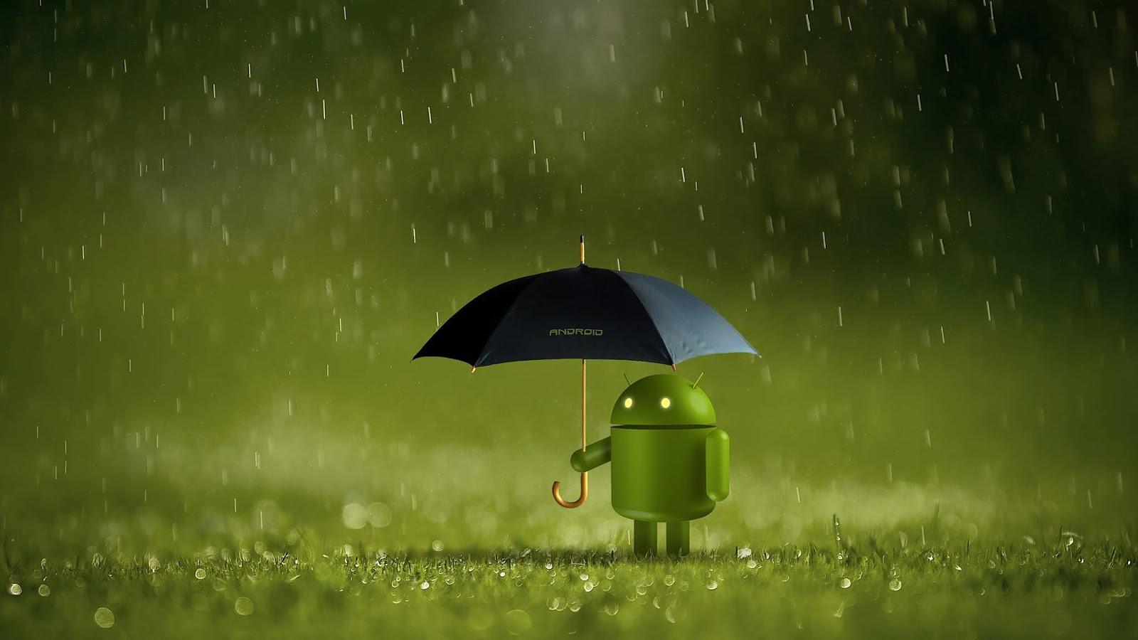 Android, Rain, 4K, Technology