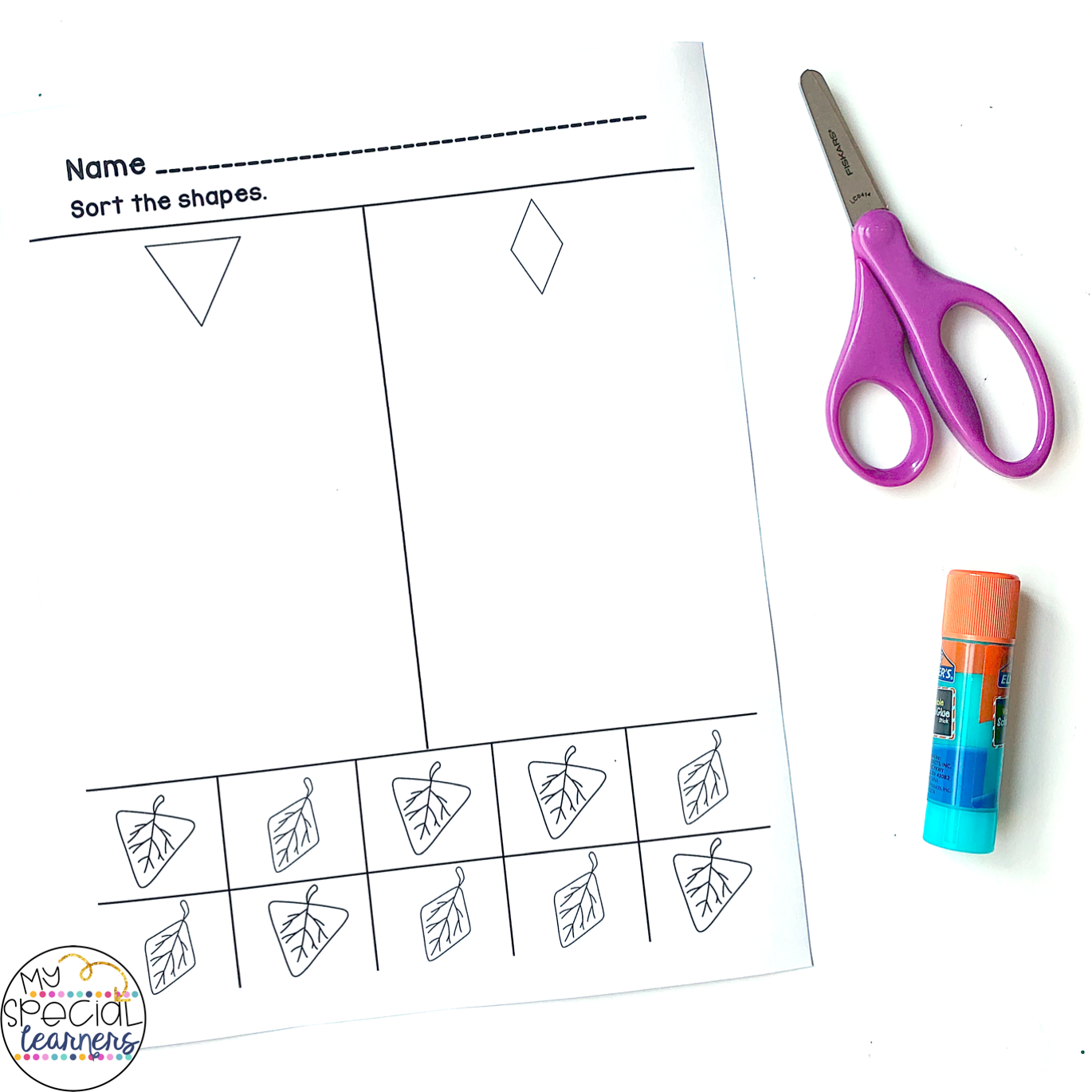 Differentiated Fall Math Worksheets For Elementary Special