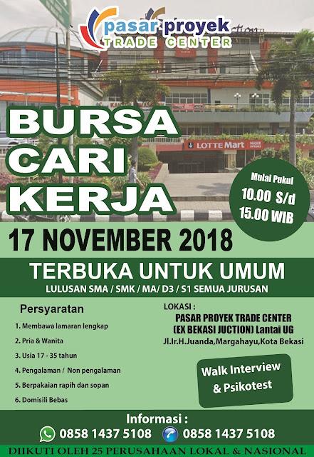 Job Fair Pasar Proyek Trade Center Bekasi