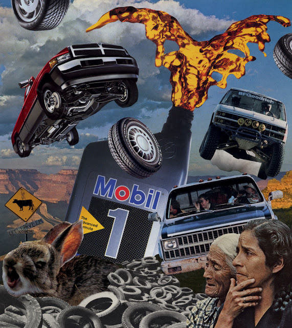 Climate change collage
