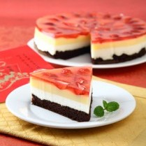 RESEP STRAWBERI CAKE PUDING