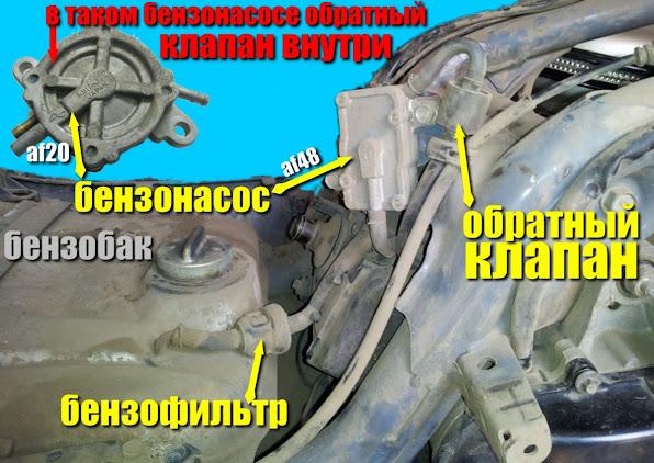 бензонасос хонда леад аф48 бензофильтр обратный клапан