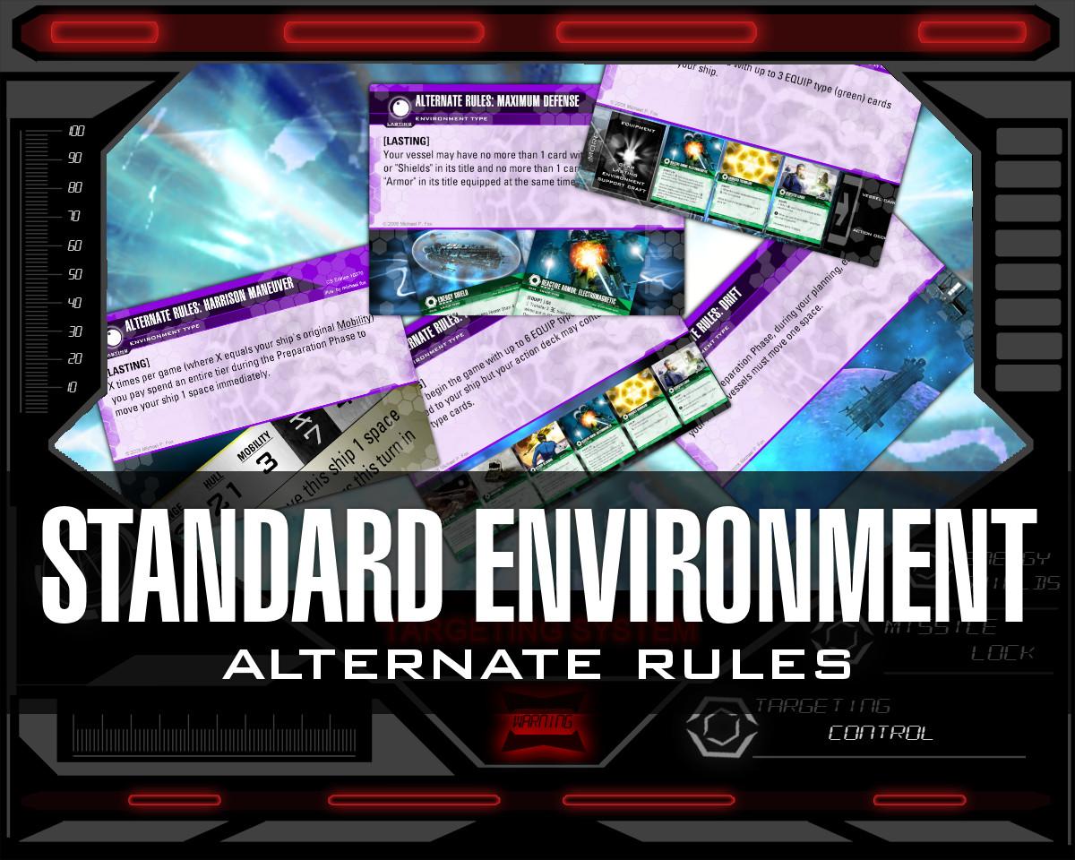Dog Fight: Starship Edition standard environment alternate rules