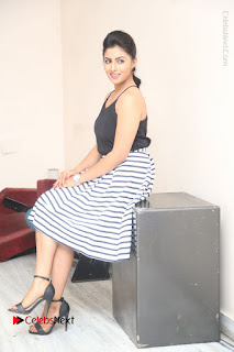 Telugu Actress Kruthika Jayakumar Stills in Short Dress at Intlo Deyyam Nakem Bhayam Success Meet  0242.JPG