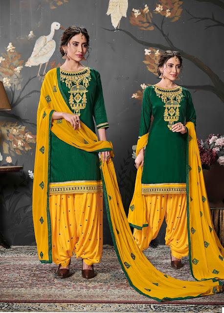 Panjabi Salwar Suit with Embroidery