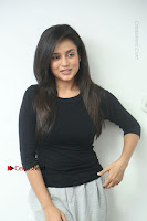 Telugu Actress Mishti Chakraborty Latest Pos in Black Top at Smile Pictures Production No 1 Movie Opening  0046.JPG