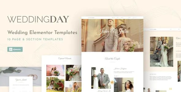 Best Invite and Gallery Event Elementor Template Kit
