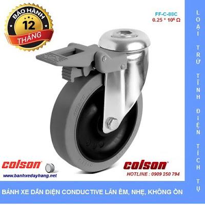 Báo giá bán bánh xe đẩy cao su chống tĩnh điện Colson Mỹ www.banhxeday.xyz