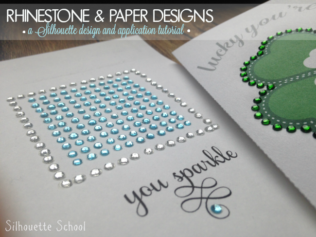 Applying rhinestones to paper and a silhouette cameo print and cut silhouette cameo rhinestone tutorial fandeluxe Choice Image