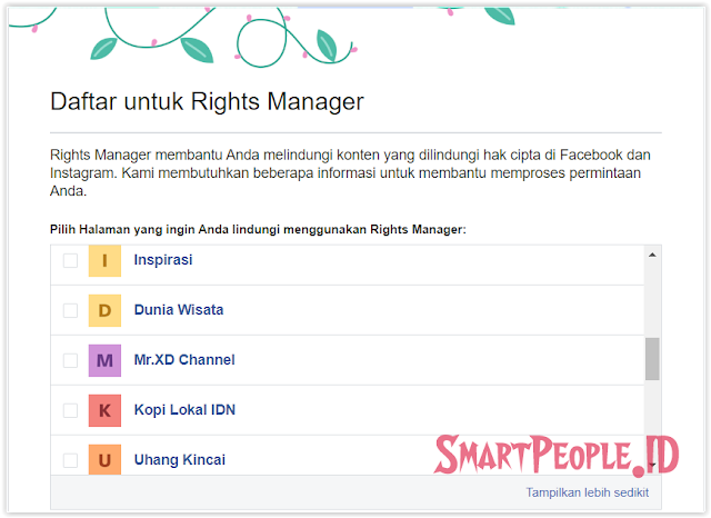 Cara Daftar Rights Manager