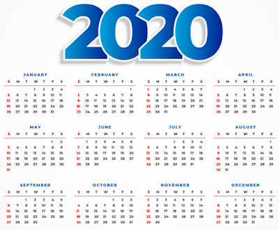 kalender 2020.cdr, kalender 2020 bisa di edit, kalender 2020 clean, kalender 2020 putih