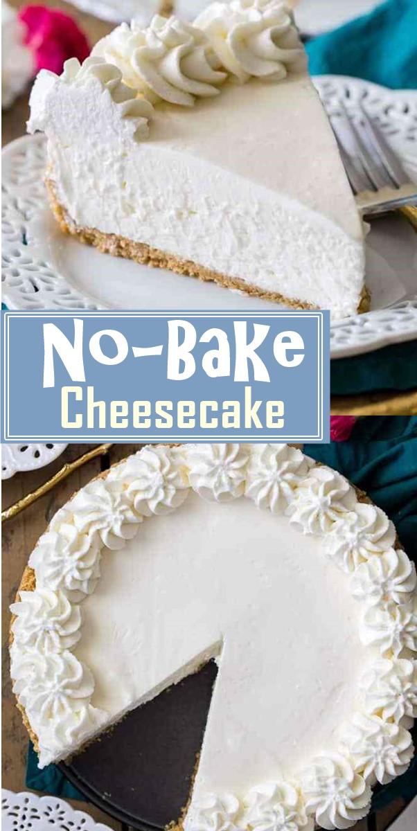 No-Bake Cheesecake #cakerecipes