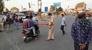 यातायात विभाग द्वारा सड़कों पर उतर कर चेकिंग अभियान शुरू किया