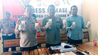 Satresnarkoba Polres Bone Ungkap Kasus Sabu Seberat 739 gram