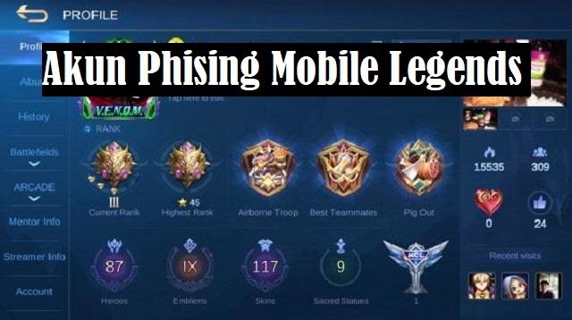 Akun Phising Mobile Legends
