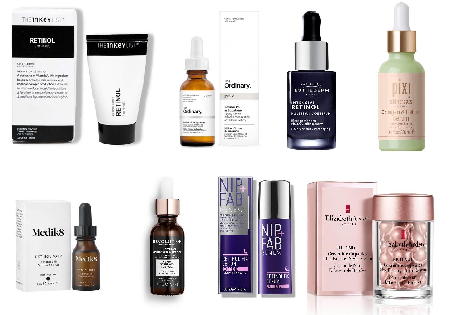 Produkty s obsahom retinolu
