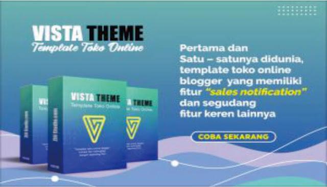 Vista Template Toko Online Blogspot