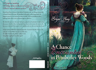 Full Wrap Book cover: A Chance Encounter in Pemberley Woods by Brigid Huey