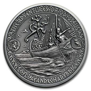 Solomon Islands commemorative silver coin of Strait of Scylla and Charybdis, 2018