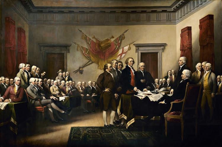 John Trumbull - Declaration independence (1819)