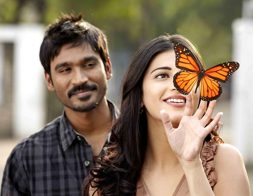 Ny Pics Dhanush And Shruti Hassan Photos From Three Movie