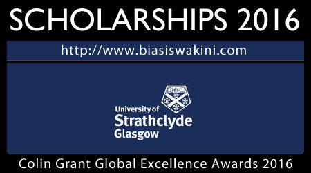 Colin Grant Global Excellence Awards Scholarship 2016