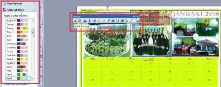 gambar cara desain kalender sekolah