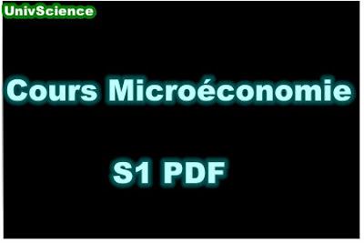 Cours Microéconomie S1 PDF .