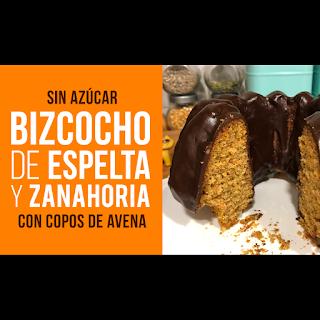 Bizcocho Integral de Espelta, Zanahoria y Copos de Avena
