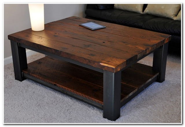 Rustic Coffee Table Black