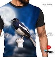 Kaos 3D Gambar Burung Kacer UMAKUKA