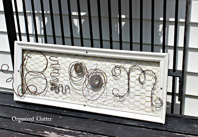 Junk Wire Garden Bloom Sign www.organizedclutter.net