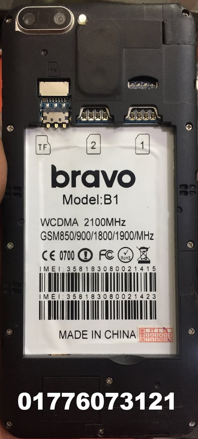 BRAVO B1 FLASH FILE FIRMWARE MT6580 (STOCK ROM)