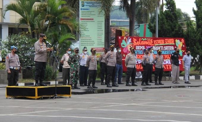 Polresta Bandar Lampung bersama Forkopimda Gelar Apel Kesiapan Pengamanan Malam Tahun Baru 2021