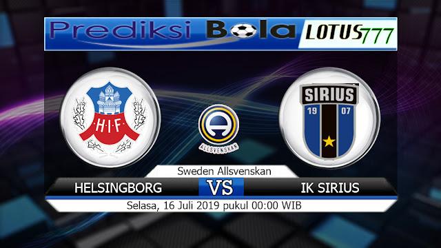 PREDIKSI HELSINGBORG VS IK SIRIUS  SELASA 16 JULI 2019