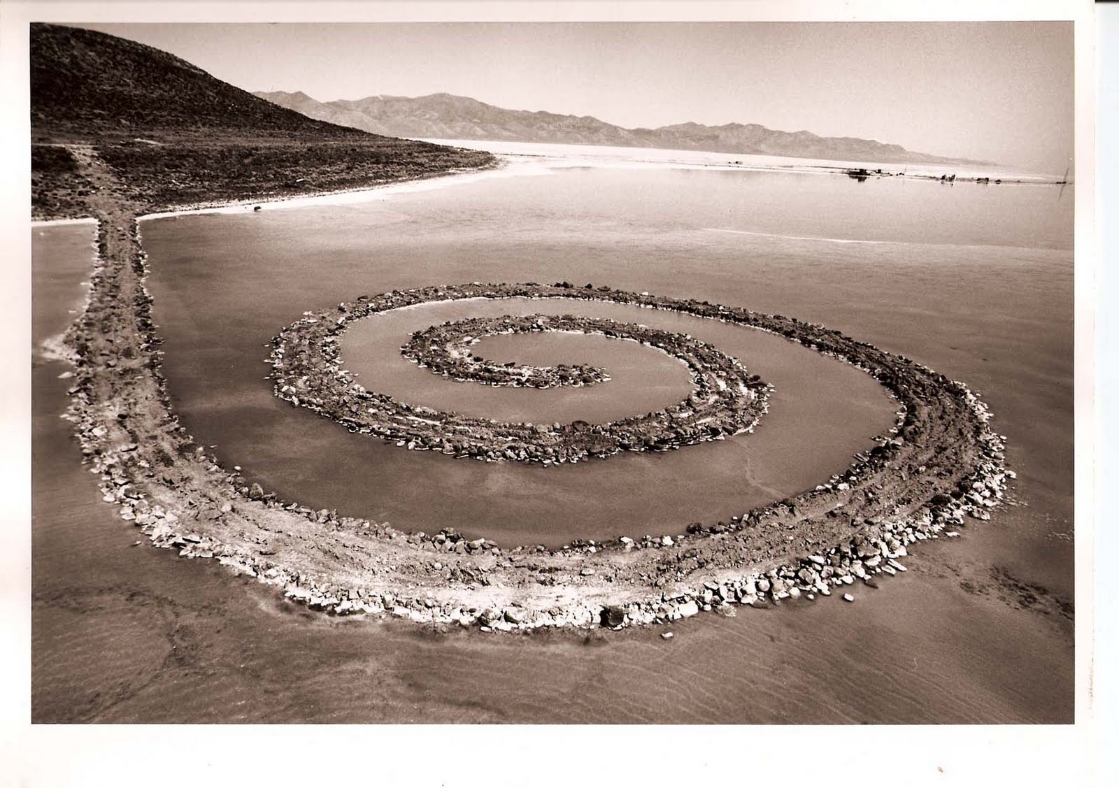 "As the Great Salt Lake Dries Up, ""Spiral Jetty"" May Be Marooned"