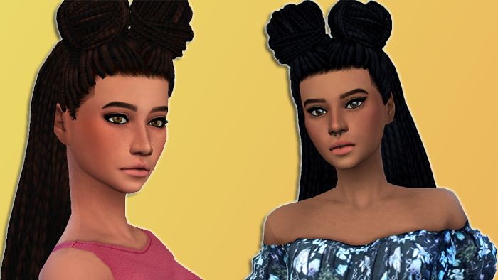My Sims 4 Blog Box Braid Buns And Only Braids Hair