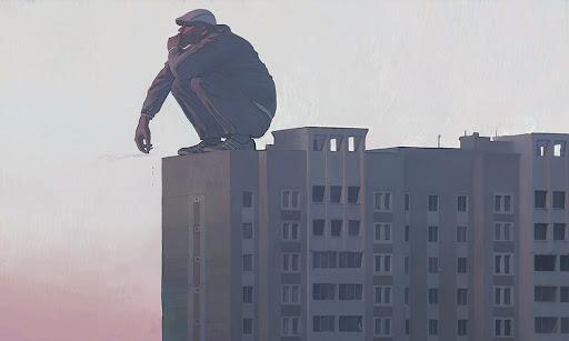 Ҳабиб Саид - Ниқоргирандае дар бом ё зодрӯзи бо наҷосат даромехта