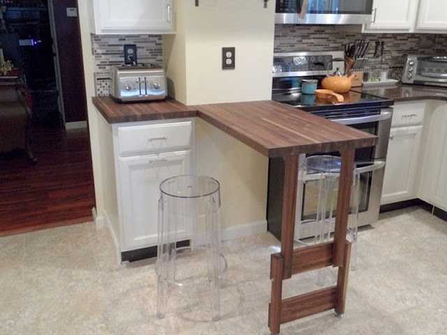 Wonderful Fold Down Kitchen Counter Round