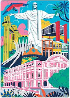 Quebra-Cabeça Nano Postais do Brasil: Monumentos 500 Peças