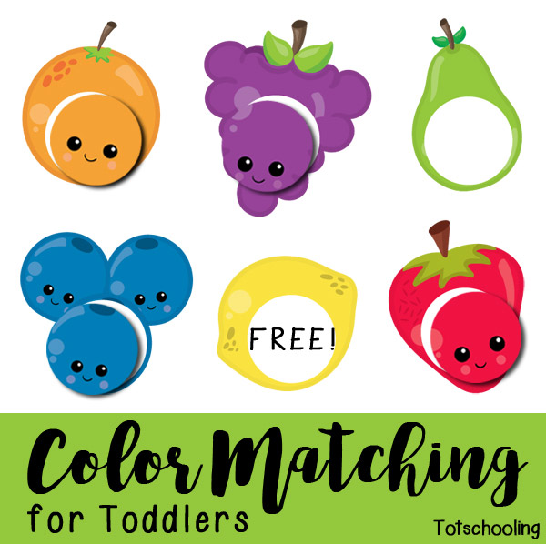 Fruit Color Matching Free Printable for Toddlers