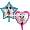 Balon Foil Happy Birthday Bintang Mickey Mouse & Foil Happy Birthday Hati Minnie Mouse