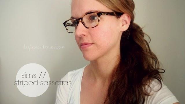 Warby Parker eyewear: sims // striped sassafras
