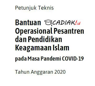 CATAT! Juknis BOP Pesantren dan PAI pada Masa Pandemi covid-19