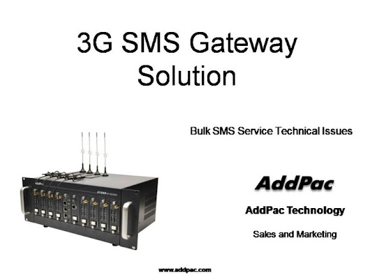 3G SMS Gateway Bulk SMS Service Technical Issues